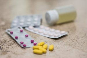 anxiety medications with the least side effects on a table