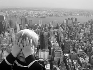 can anxiety make you feel dizzy while standing on a high building