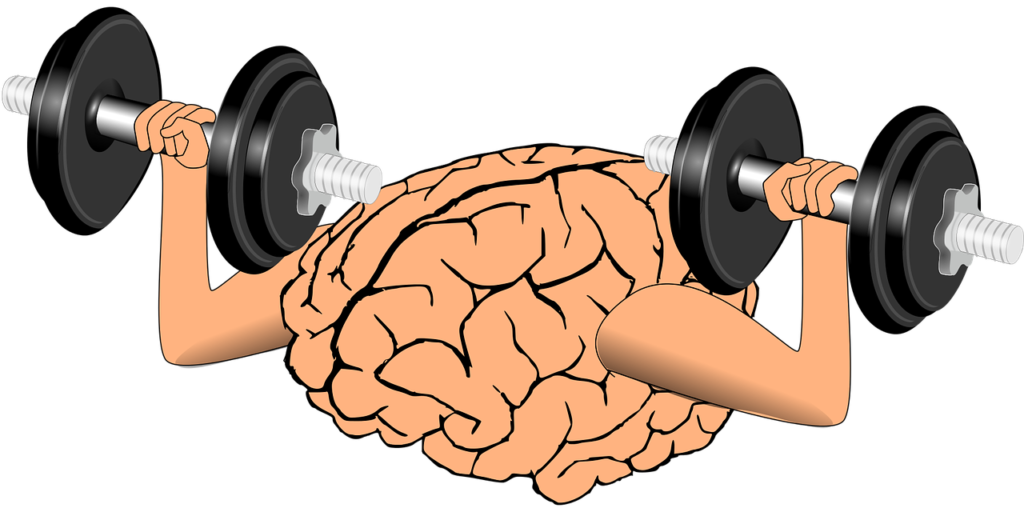 A brain is exercising to naturally increase serotonin levels in the brain